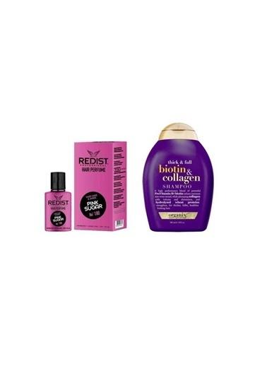 Organix Organix Biotin Collagen Şampuan 385 Ml+Redist Pink Sugar No:180 Saç Parfümü 50 Ml Renksiz